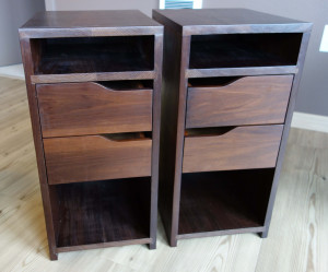 Pair of finished nightstands